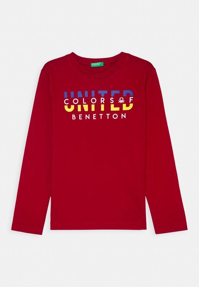 BASIC BOY - Maglietta a manica lunga - red