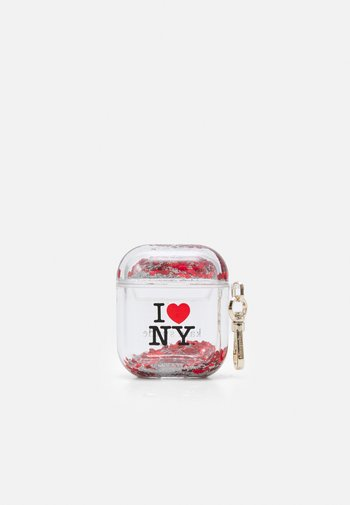 IHEARTNY AIRPOD - Other accessories - black/red transparent