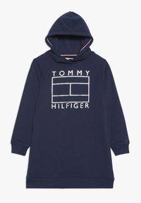 Tommy Hilfiger - ESSENTIAL FLAG DRESS - Vapaa-ajan mekko - blue - 0