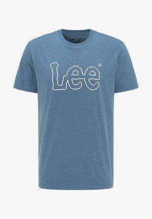 WOOBLY  TEE - Print T-shirt - teal
