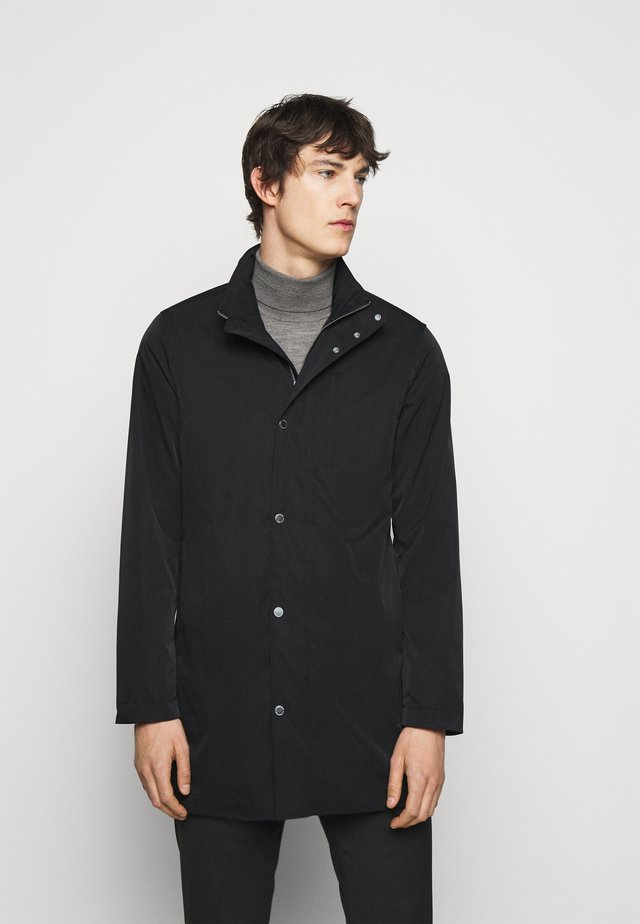 TERRY POLY STRETCH - Short coat - black