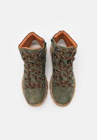 Emporio Armani - XYZ003 - Lace-up ankle boots - KHAKI - 3