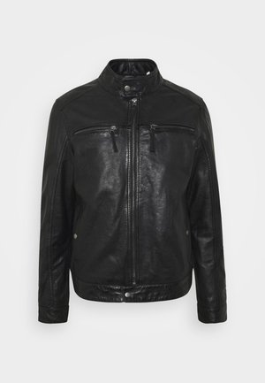 GILLES - Leather jacket - noir