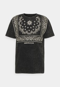 Mennace - ROSEBOWL BANDANA REGULAR - Print T-shirt - black - 4