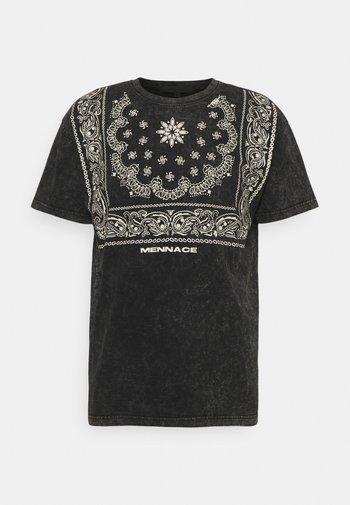 ROSEBOWL BANDANA REGULAR - Print T-shirt - black