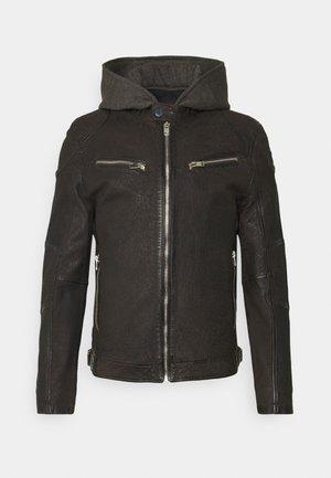RICO  - Leather jacket - dunkelbraun