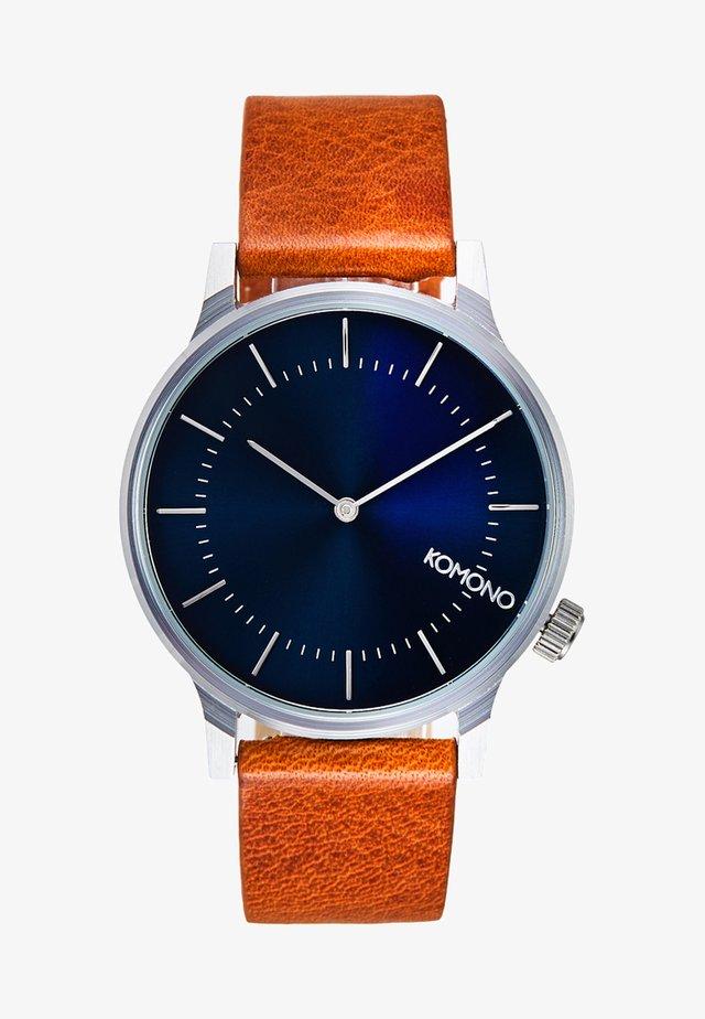 THE WINSTON - Watch - regal blue cognac