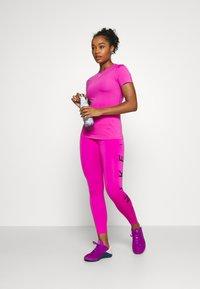 Nike Performance - ONE 7/8  - Leggings - fire pink/topaz gold/black - 1