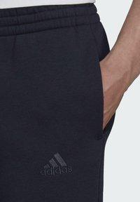 adidas Performance - LINEAR FLEECE PT SPORTS ESSENTIALS PANTS - Tracksuit bottoms - blue - 3
