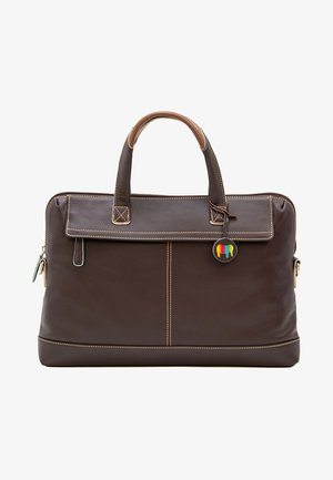 SLIM OFFICE  - Briefcase - mocha