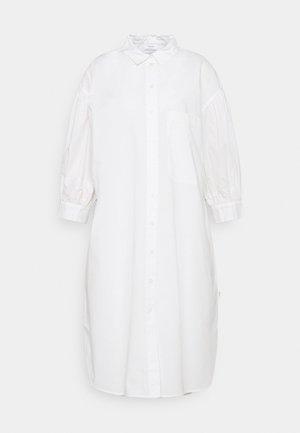 WOVEN DRESSES BOHO STYLE LONGSHIRT - Košilové šaty - scandinavian white