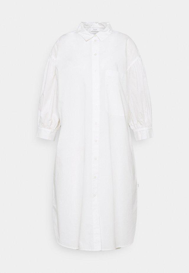 WOVEN DRESSES BOHO STYLE LONGSHIRT - Sukienka koszulowa - scandinavian white