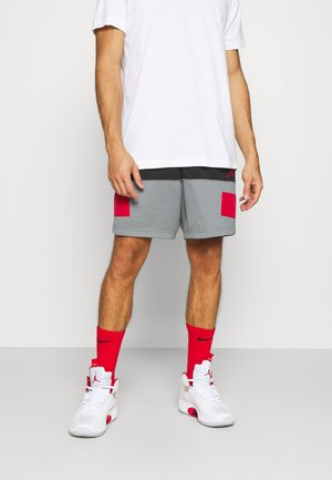 DRY AIR SHORT - Sports shorts - black/smoke grey/gym red