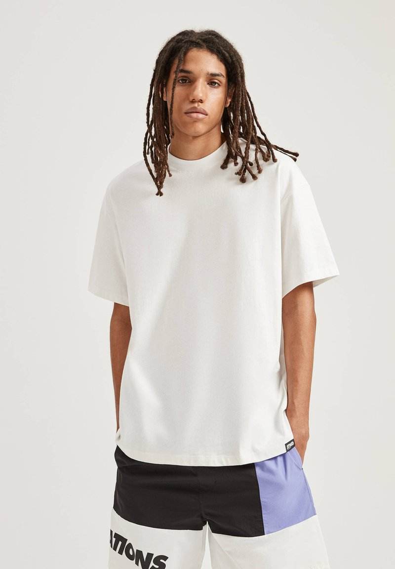 PULL&BEAR - T-shirts basic - white