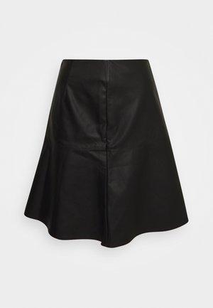 NUBELEN SKIRT - Mini skirt - caviar