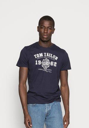 LOGO TEE - T-shirts print - navy blue