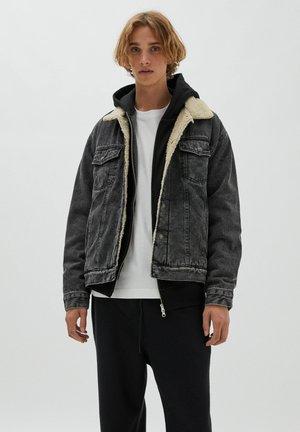 Denim jacket - mottled dark grey