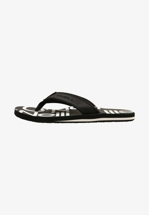 ARCH GRAPHIC  - T-bar sandals - black with white