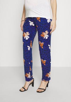 MLCILJA  PANTS - Kalhoty - dazzling blue/leopard & flowers