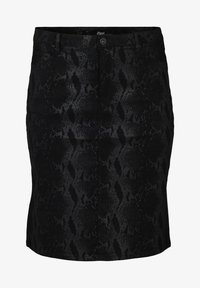 Zizzi - PATTERNED SKIRT - Pencil skirt - black
