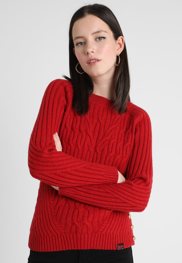 HESTER CABLE JUMPER - Neule - deep cherry