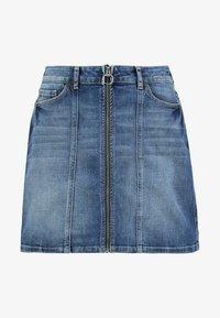 MINSKIRT - Denim skirt - blue medium wash