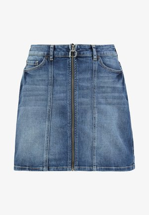 MINSKIRT - Denim skirt - blue medium wash