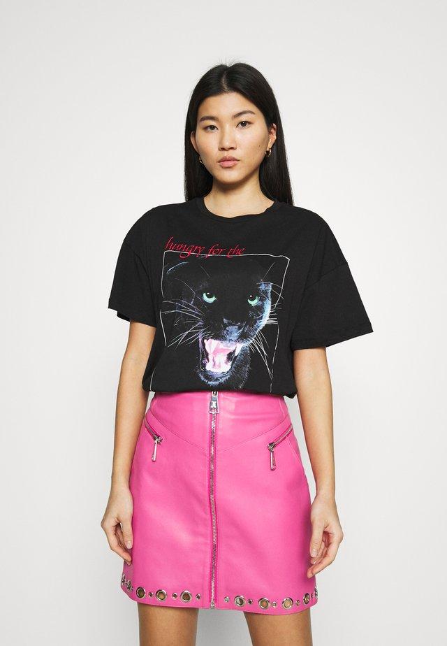 PANTHER LONG - T-shirt print - black