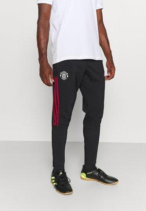 MANCHESTER UNITED PRE PNT FOOTBALL AEROREADY PANTS - Club wear - black