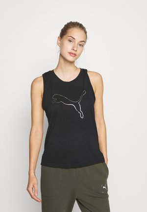TRAIN FAVORITE CAT MUSCLE - Sports shirt - black