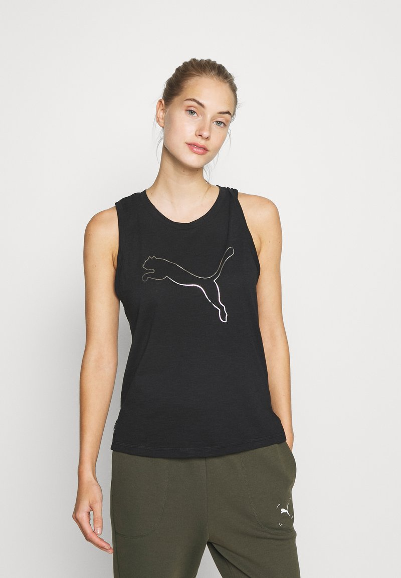 Puma - TRAIN FAVORITE CAT MUSCLE - Funktionsshirt - black