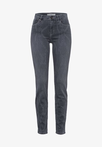 STYLE SHAKIRA - Slim fit jeans - laser chain grey