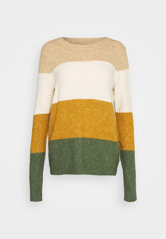VMPLAZA - Pullover - tan/birch/buckthorn brown