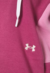 Under Armour - RIVAL HOODIE - Collegepaita - pink quartz - 4