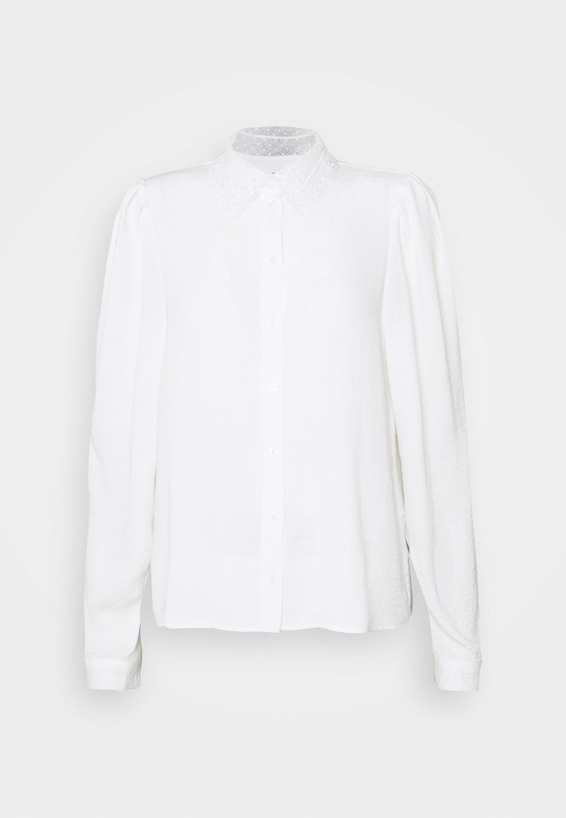 Vero Moda - VMWIGGA COLLAR - Button-down blouse - snow white