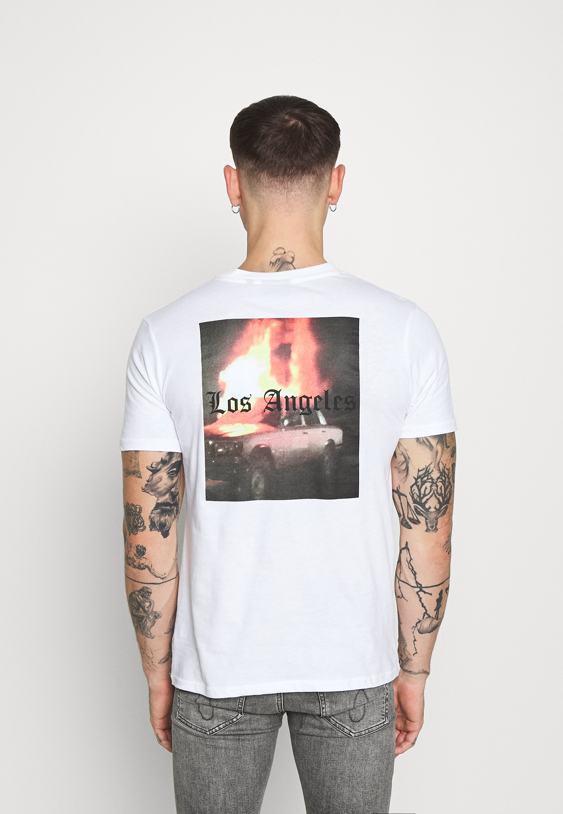 274 FLAME - Print T-shirt - white Agf12