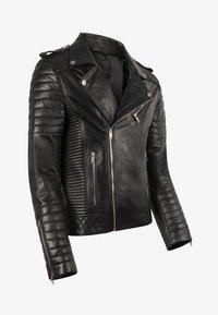LEATHER HYPE - JORDAN PERFECTO - Leather jacket - black - 9