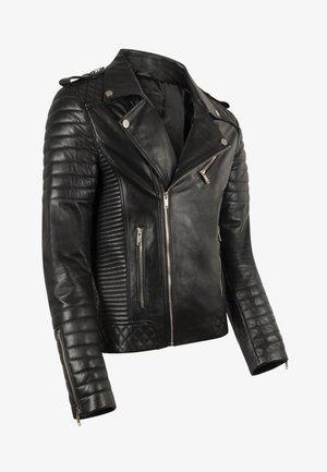 JORDAN PERFECTO - Leather jacket - black