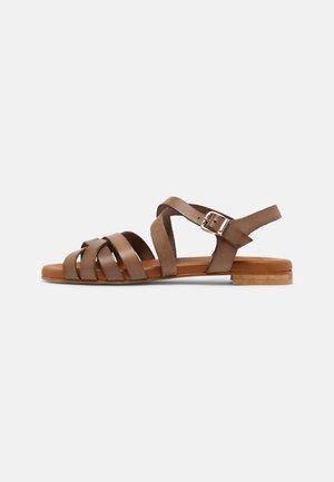 Sandaalit nilkkaremmillä - taupe