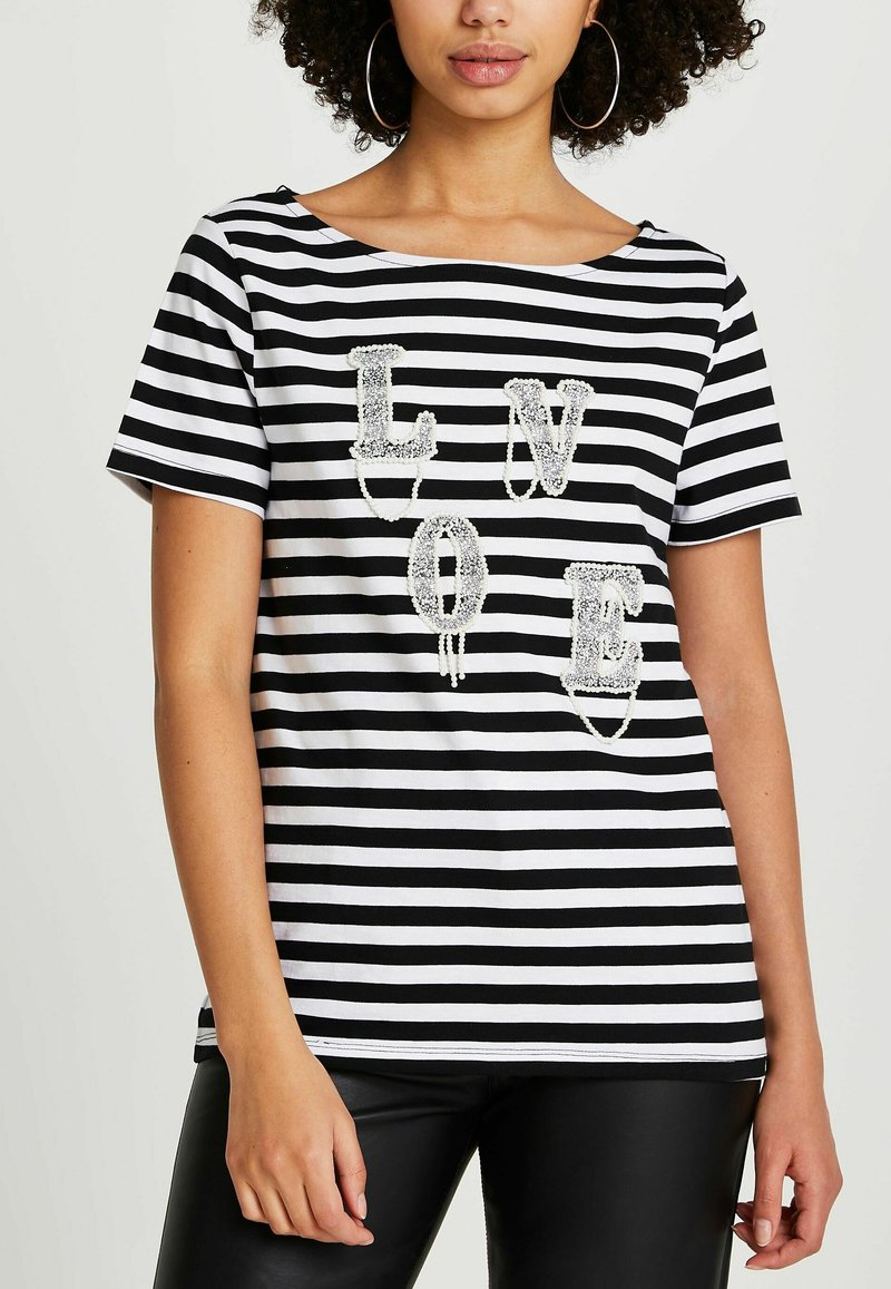 River Island - LOVE  - Print T-shirt - black