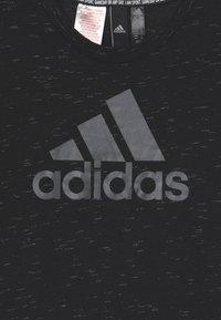 adidas Performance - LOGO TEE - Camiseta estampada - black melange/black - 2