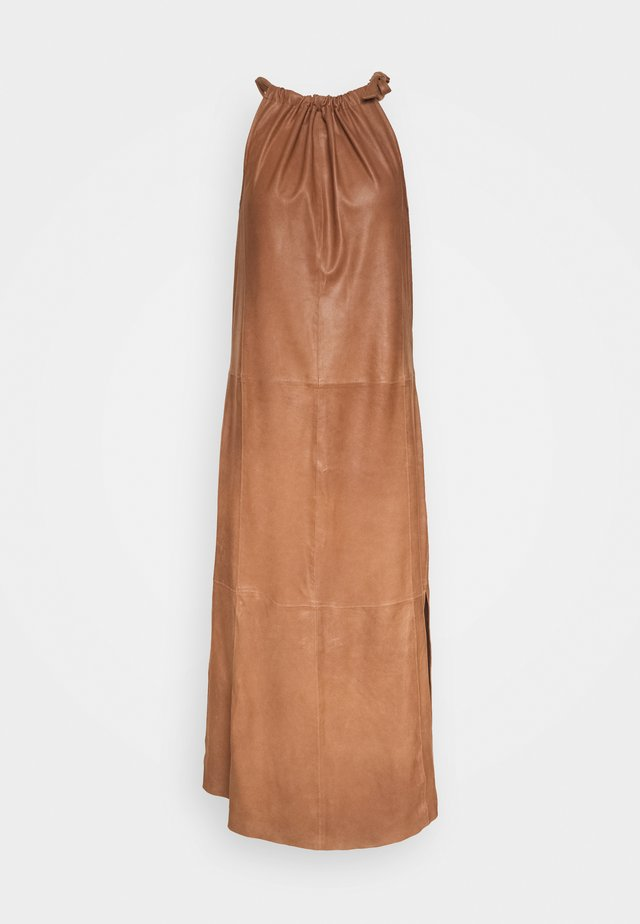 LONG DRESS - Vestido informal - tobacco