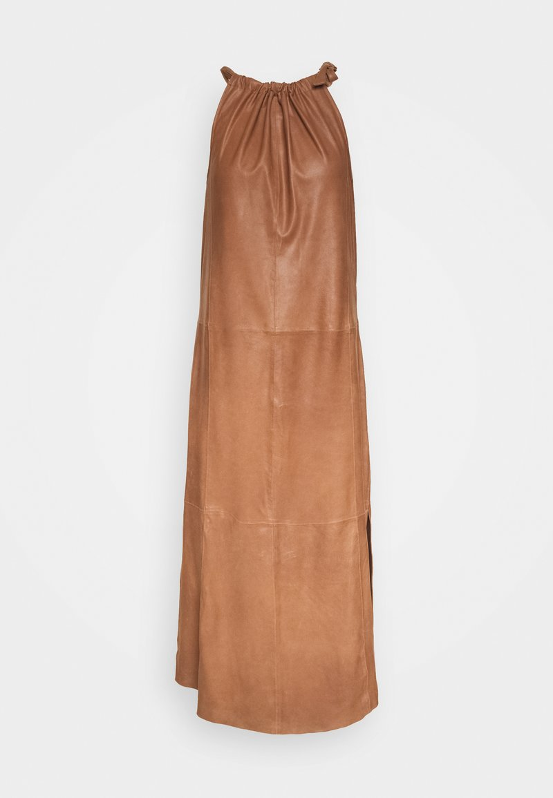 DEPECHE - LONG DRESS - Vapaa-ajan mekko - tobacco