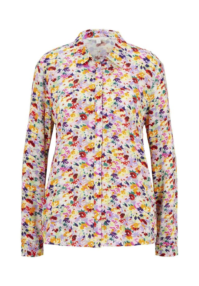 BLUSEN & SHIRTS HEMDBLUSE MIT FLORALEM PRINT - Button-down blouse - multicolor flower print