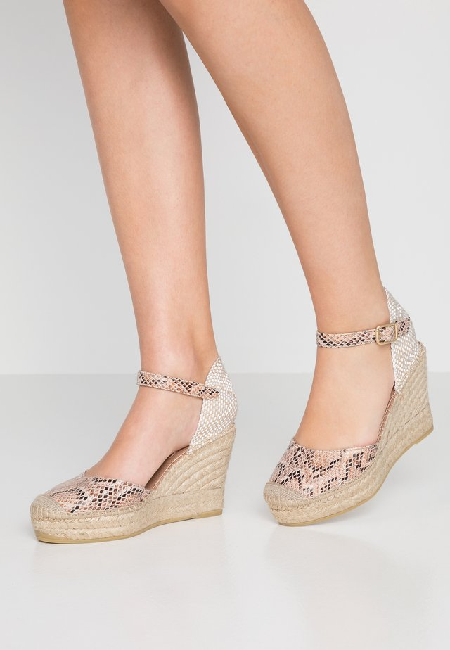 SERPIENTE - High heeled sandals - beige