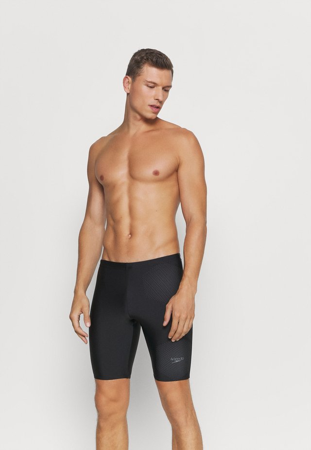 TECH LOGO JAM - Swimming trunks - tech black/ardesia