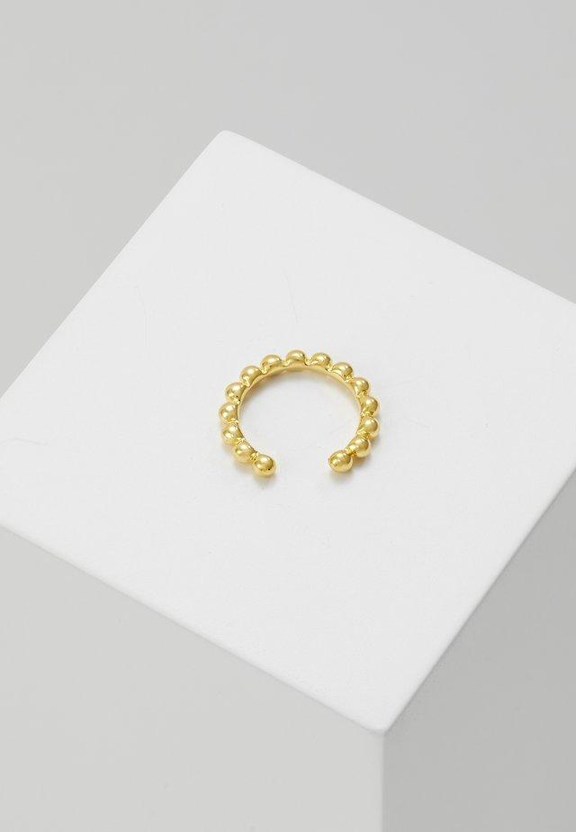 BASIC BEADED EAR CUFF - Kolczyki - gold-coloured