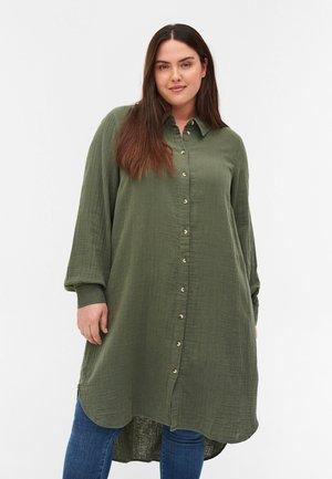Button-down blouse - thyme