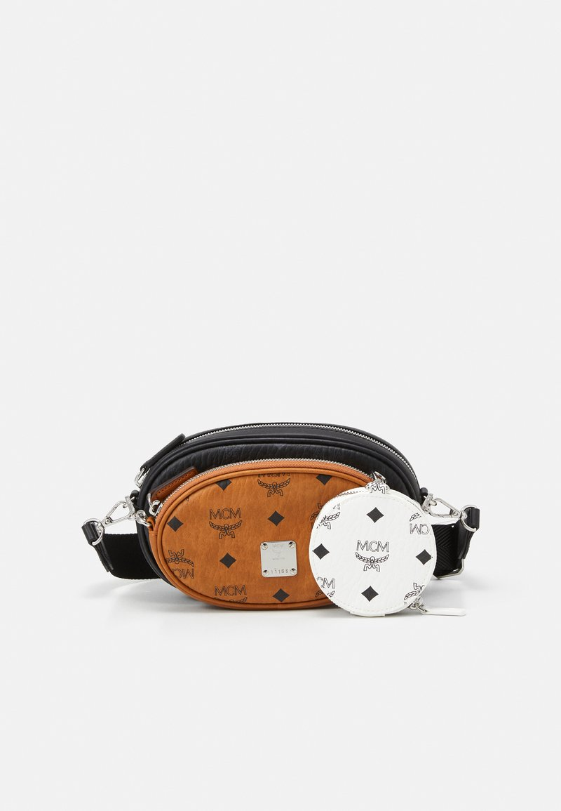 MCM - ESSENTIAL VISETOS ORIGINAL CROSSBODY SMALL UNISEX SET - Across body bag - black/white