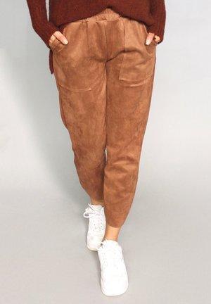 Trousers - rot-braun